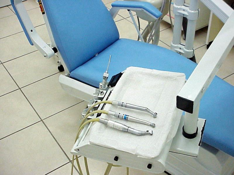 Chair at Dentist Office with Instruments